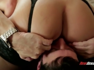 Whorish milf with huge boobs Shay Fox is fucked after cunnilingus