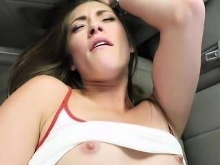 Kirsten Lee masturbates in the backseat