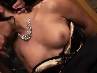 Sensual dame Jenny pleasures a thick boner