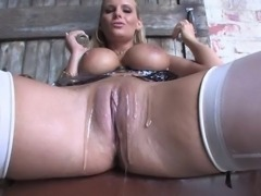 Flirtatious blonde pornstar with natural tits liking her pussy being drilled hardcore in porn compilations