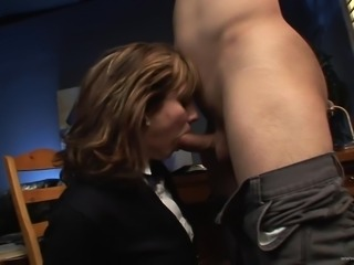 Fancy cowgirl with natural tits getting drilled hardcore after giving a deepthroat blowjob