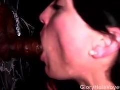 Gloryhole Slut Sucking Fucking Black Cock