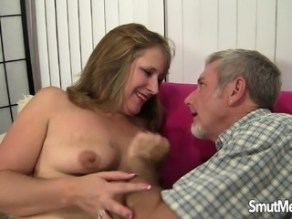 Curvy blonde milf can't stop sucking and fucking her lover's big dick
