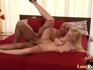 Ending with a tits cumshot after fucking Anastasia Devine