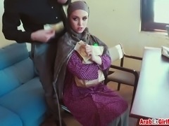There is no job for a hot Arab chick but she can fuck for money