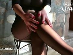 Miss Adrastea Hot Tits and black Nylon