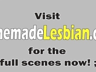 Lesbian babes Alex and Addison licking pussies