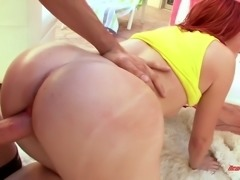 Oiled up Ivy Ryder boned brutally in a doggy position