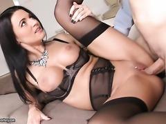 Milf with juicy tits fucks like a sex