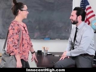 InnocentHigh- Hot SchoolGirl Fucks Her WAY Out Of Trouble