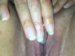 Mature ex wife fingering herself passionately in hell arousing sex tape