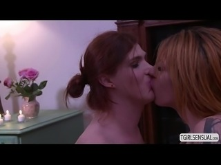 Big tits TS Aspen gets anal fucked by TS Stefani Special hard cock
