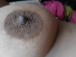 Playing with big boob and nipple of desi Indian wife