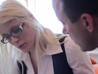 Gorgeous spex teen fucked by her teacher