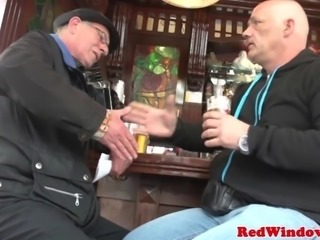 Young dutch whore fucks an old man silly