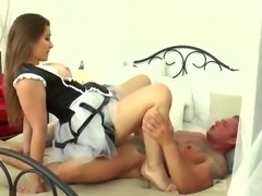 Stunning raven haired housemaid Dani Daniels fucks with her heavily inked...