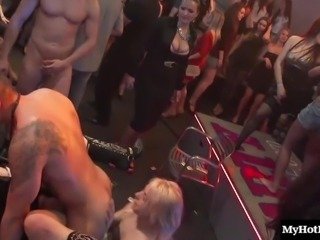 Randy babes show off their sexual skills during a nice party