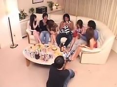 Attractive and lustful Japanese wives share their desire fo