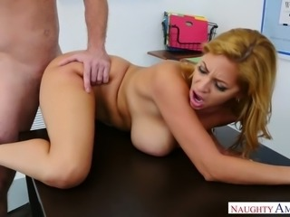 Desirable MILF with juicy big boobs Jazmyn fucked doggystyle