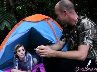 Camping stepteens spunked