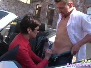 Mature European Brunette With Glasses Sucks A Cock And Gets Fingered