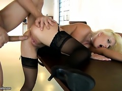Blonde kitty is horny as hell and fucks with wild enthusiasm in sex action...