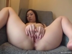 Petite Japanese cutie slowly stripping and exposing her beauty