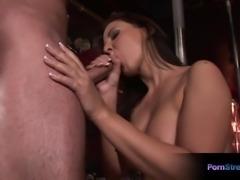 Busty pornstar Maria Belucci huge cumshot on her tits