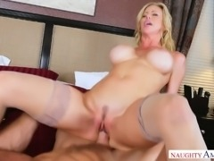 Milf with huge fake boobs Alexis Fawx enjoys having wild sex