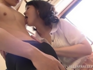 Sexy Japanese Wife Pleasures A Horny Dude In The Shower