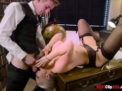 Huge Boobs Secretary Rebecca Moore fucked in office