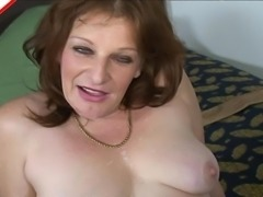 Thick and sultry mature chick sucks a dick and gets fucked