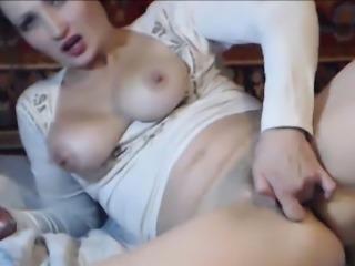 Ukrainian Teen Tasty Pussy and Anal Dildo