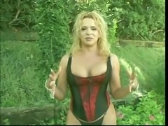 Cute blonde tranny with a huge cock loves to ride a nice big dick