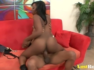 Face full of cum for ebony gal Vanessa B