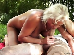 Blonde is ready to suck guys throbbing fuck stick day and night
