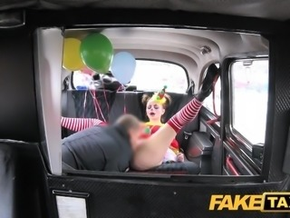 Fake Taxi Customer gets steamy taxi massage