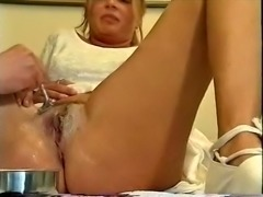 Horny guy has fetish dor shaving pussies of juicy curvy girls