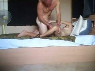 Sweet svelte black head was bent over and hammered doggy style
