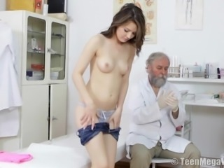 Petite looker Timea Bella gets fucked by her kinky doctor