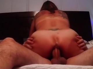 Anal fuck with tattooed housewife Renata