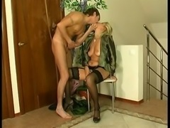 Mature mom with young