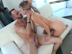 This young girl is going to take 9 inch dick in her holes. She will suck the...
