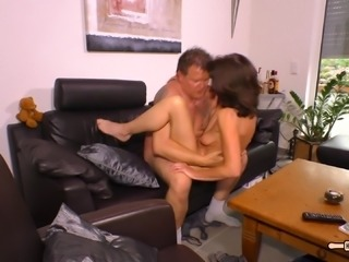 A standing 69 and passionate banging with her bulky lover