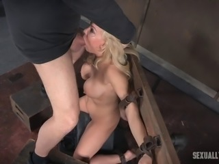 Amazing BDSM action with Kenzie whose face gets fucked