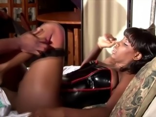 Skillful Lady Armani wants to feel a black stallion's boner