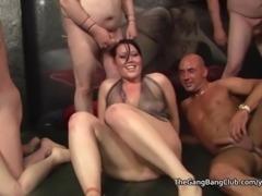 Older men fuck and cum over 3 women