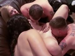Drunkard pornstar coping with multiple dicks hardcore in group sex