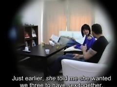 Subtitled Japanese homestay gone wrong CFNM blowjob