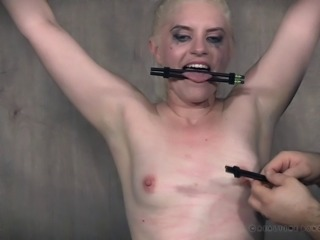 Blonde being punished by her mistress for being a dirty girl